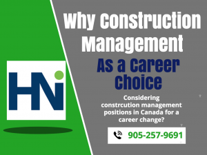Why Construction management careers