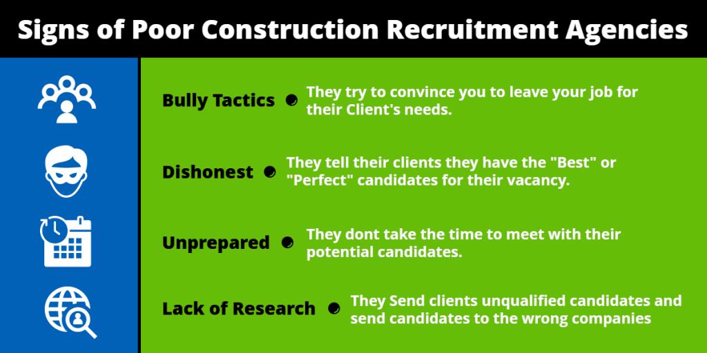 Signs of Poor Construction Recruitment Agencies