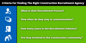 Criteria For Finding The Right Construction Recruitment Agency