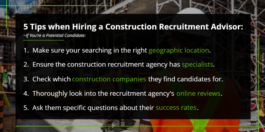 5 tips when hiring a construction recruitment advisor | Harbinger Network]